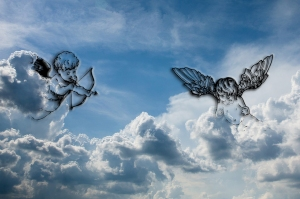 Cupid be true Sky background © Pakhnyushchyy - DollarPhotoClub
