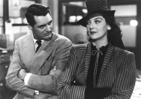Cary Grant and Rosalind Russell in His Girl Friday