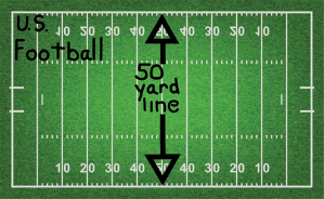 50 yard line US Football s