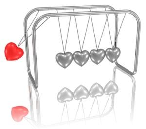 Mobile mit Herzen - der Ansto zur Liebe, Partnerschaft