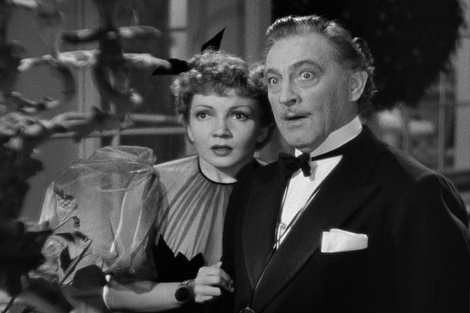 Claudette Colbert John Barrymore in Midnight