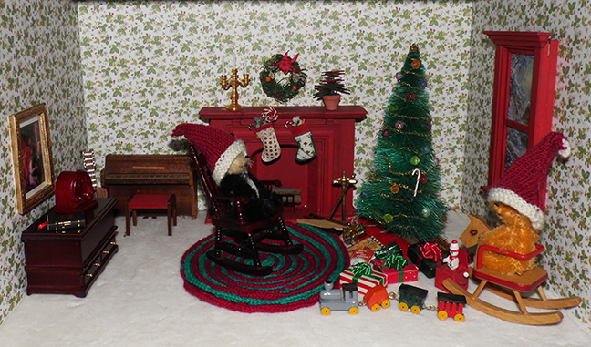 Christmas Miniature Scene