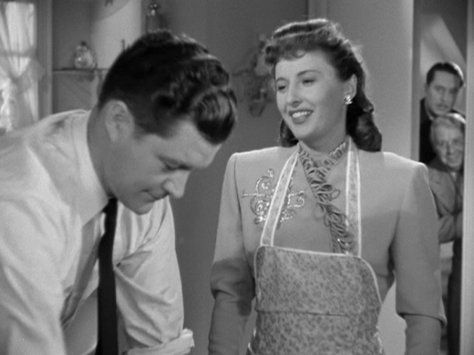 Dennis Morgan, Barbara Stanwyck in Christmas in Connecticut