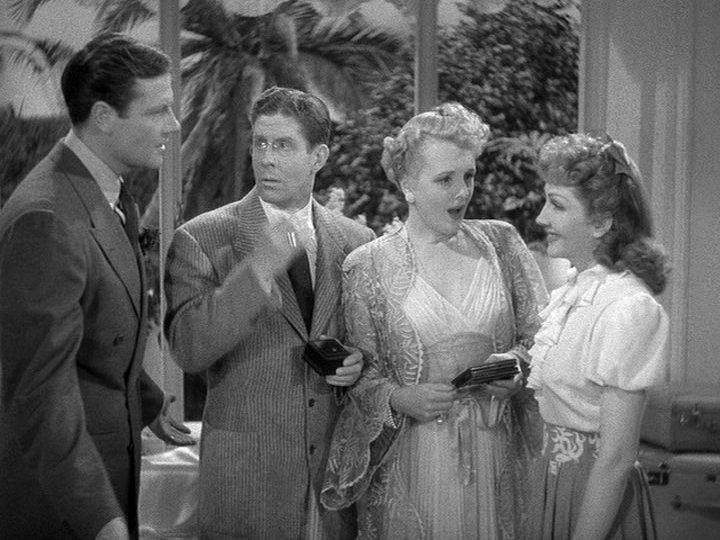 Joel McCrea, Rudy Vallee, Mary Astor, Claudette Colbert The Palm Beach Story