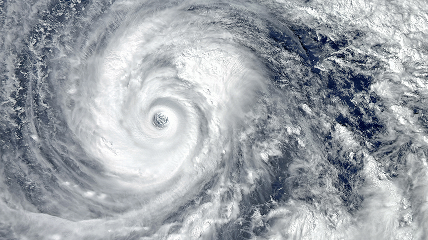 Eye of the hurricane.